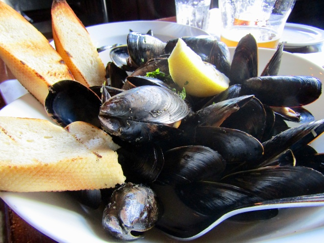 YellowBelly Pale Ale & Sea Salt Mussels.....