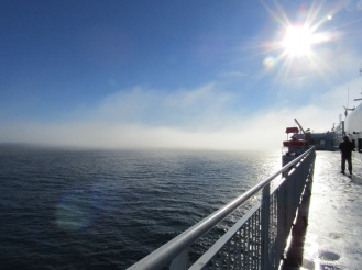 Early morning view from topside!