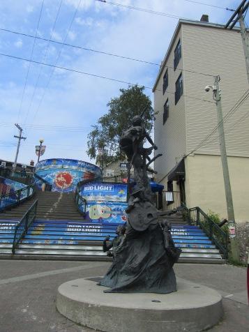 Statue commemorating local artist