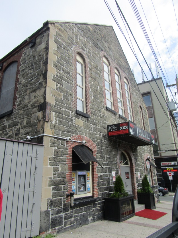 The Cotton Club Strip bar on the corner of George and Queen - in an old church! ;)