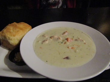 Seafood chowder at The Celtic Hearth on Water Street