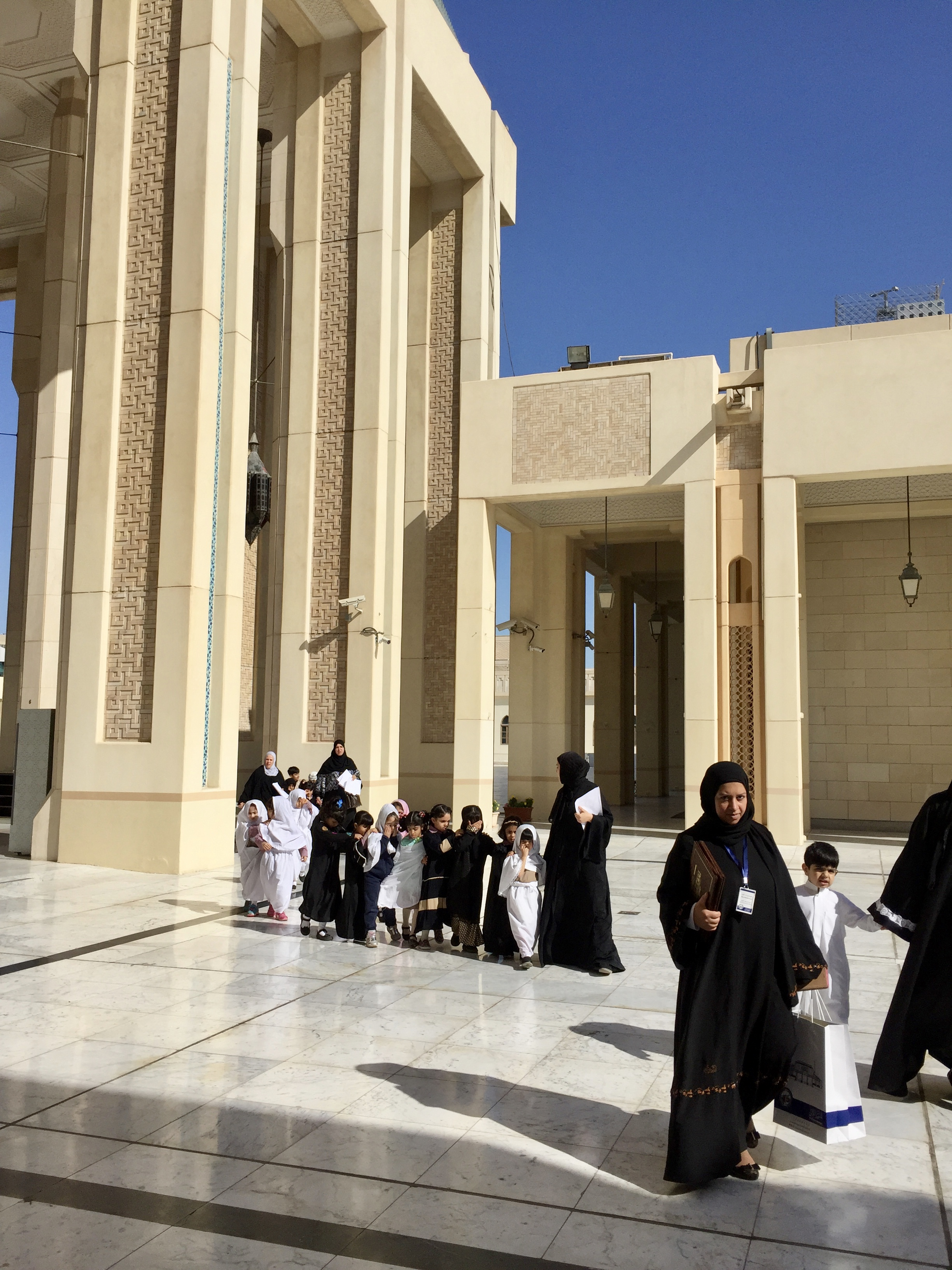 Kuwait City, Kuwait - Grand Mosque of Kuwait - School children on tour of the mosque