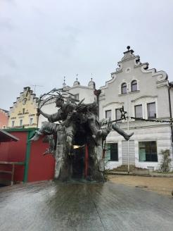 Unique statue within the square