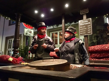 Sellers of roasted chestnuts