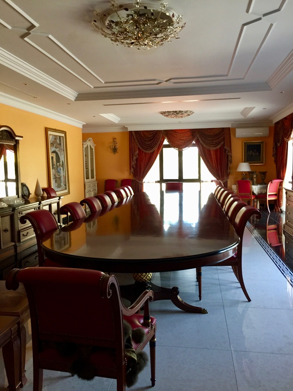 A reception room in the guest house.