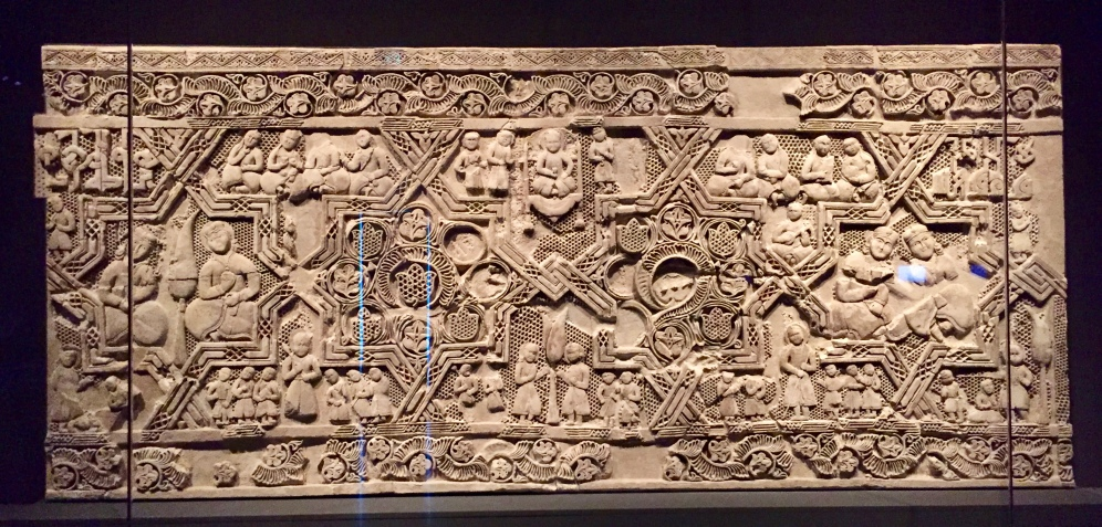 Monumental panel with figural scenes - Iran - 12th Century