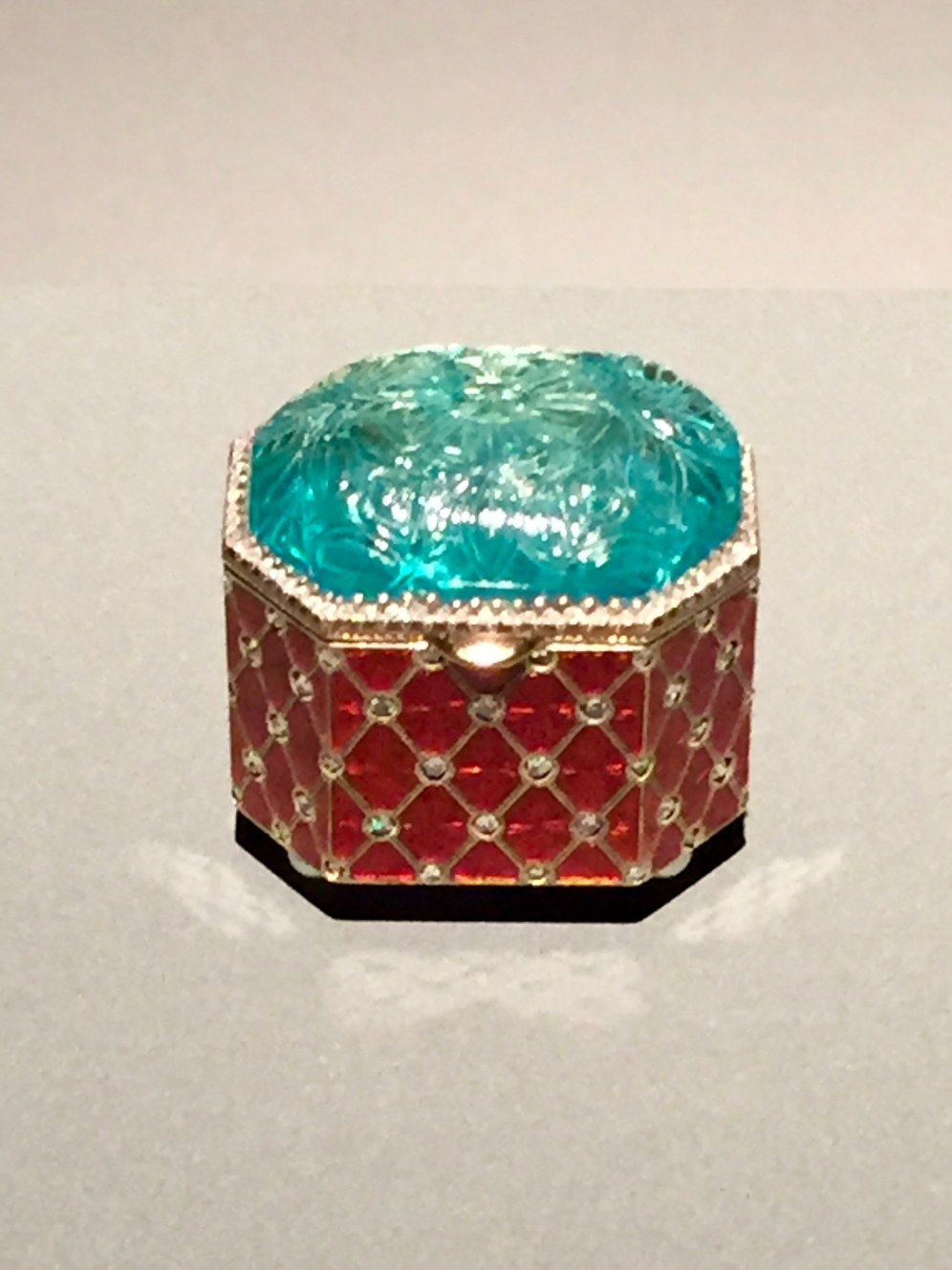 Box - Signed by Michael Perchin Emerald: India, 16th-17th Century Box : Russia 19th Century by Faberge