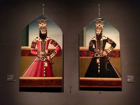 Portraits of: Hasan 'Ali Mirza Shuja al-Saltana, Iran (Tehran) - c. 1810 - 1815. Then Portrait of Sheikh Ali Mirza, Iran, c. 1810-1815