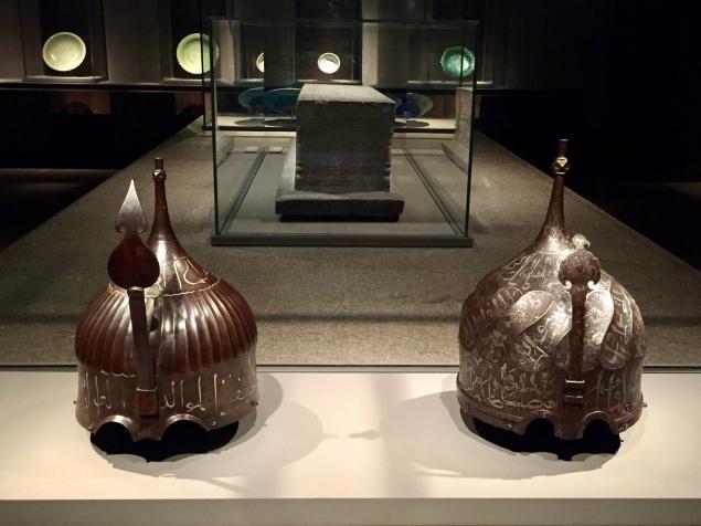 Helmets - First - Turkey or Caucasus, 15th Century. Next - Turkey or Caucasus mountain region, 15th Century
