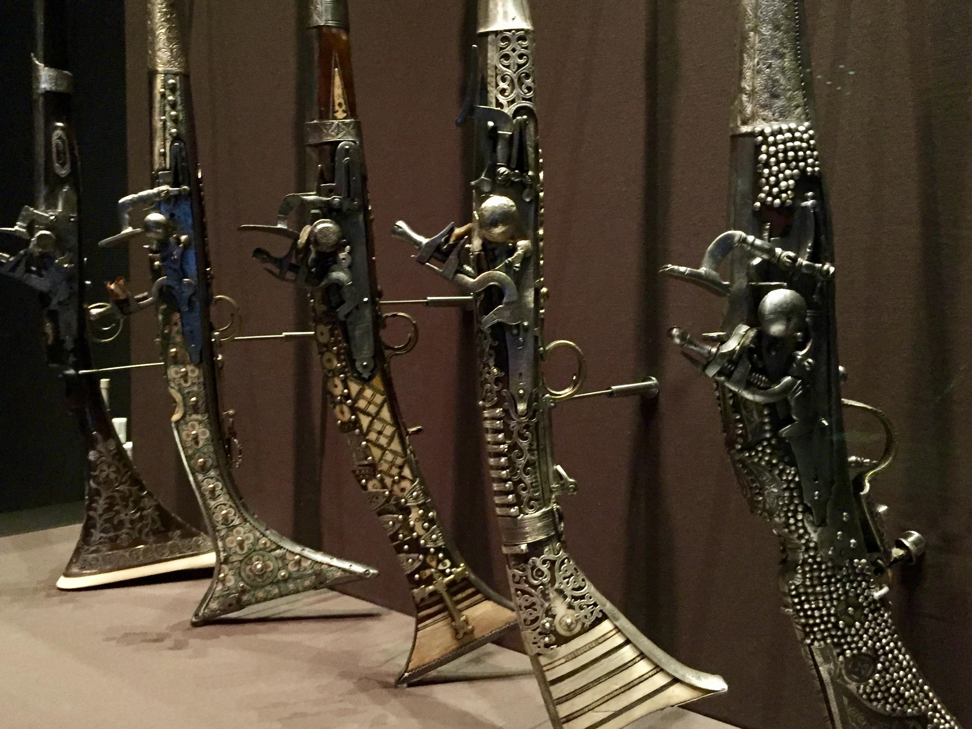 April, 2018 - Doha, Qatar - Museum of Islamic Art - Powder and Damask - Mukhala Guns - Moroccan Long-guns