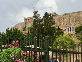 View of the Acropolis from the street