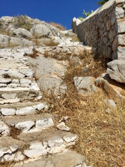 June, 2018 - Hydra, Greece - Steps to the church