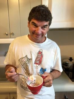 June, 2018 – Agios Prokopios , Naxos, Greece – Ice cream for breakfast!!