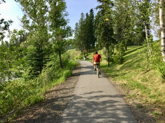 Biking along Kapuskasing River