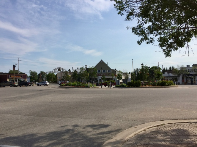 The circle -this is the hub of the town!
