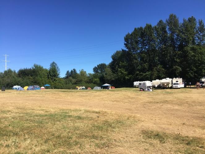 Empty volunteer campground