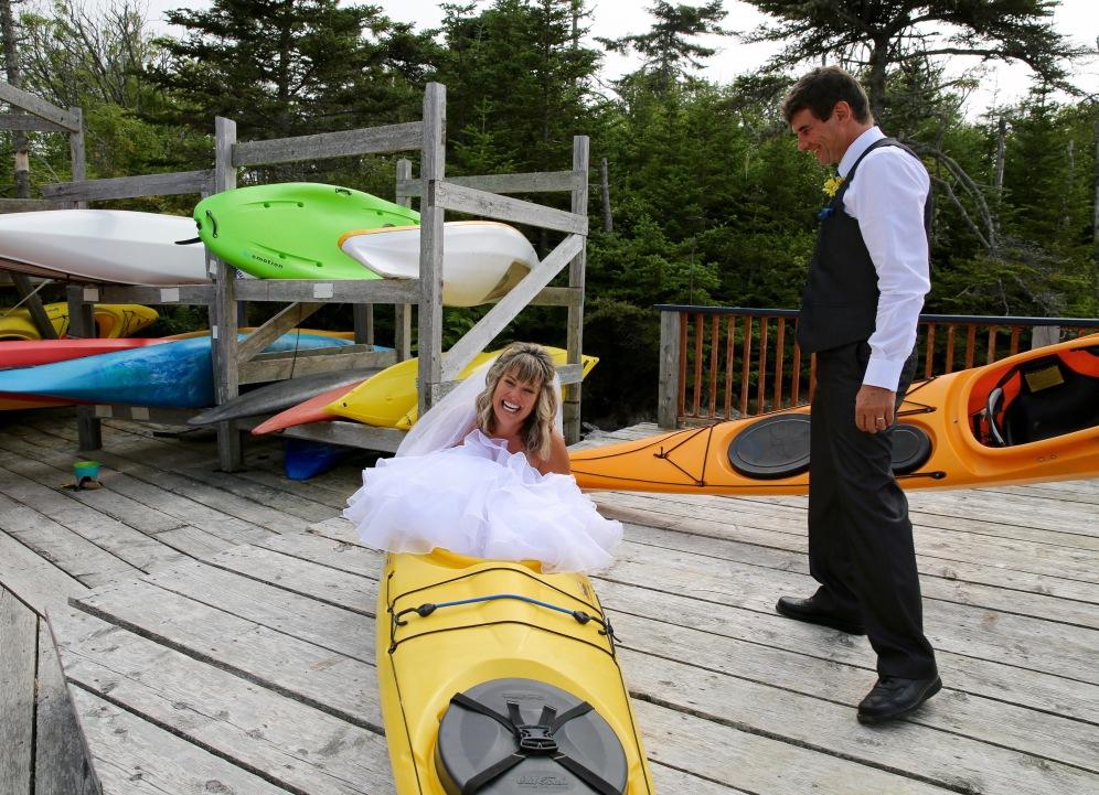 Kayak Girl & James Bond!