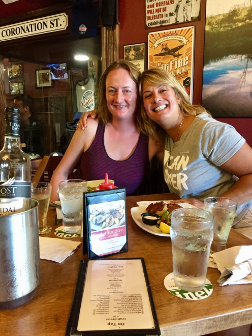August, 2018 - Windsor, Nova Scotia, Canada - Liz and I at The Spitfire Pub