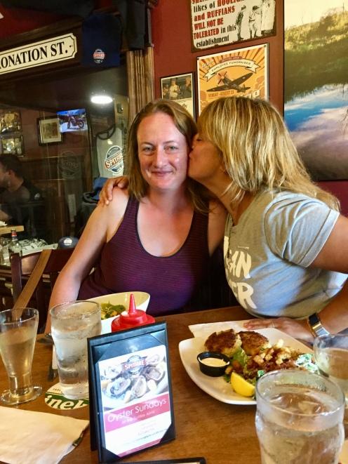 August, 2018 - Windsor, Nova Scotia, Canada - Liz and I at The Spitfire Pub - Kiss!