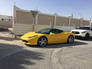 Another yellow Ferrari