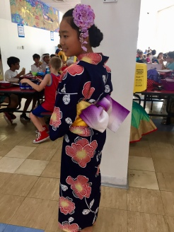 It took Iroha an hour to dress and have her hair done!