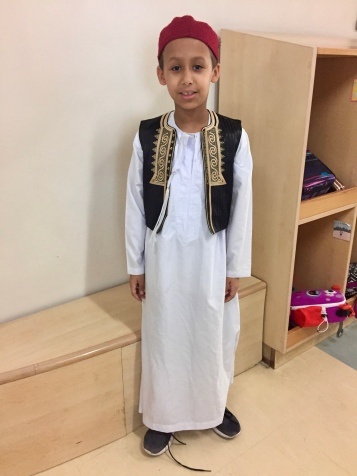 Rashid in his traditional clothing from Lybia