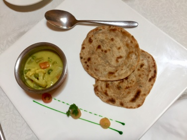 Vegetable Khorma with Water Spinach Paratha