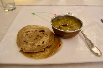 Simmered Kidney Beans with Ridge Gourd & Carom Seed Tawa