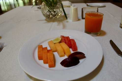 Cut Fruits with Carrot & Pineapple Juice