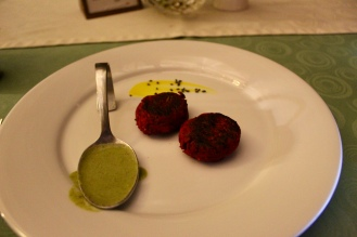 Yam and Beetroot Tikki