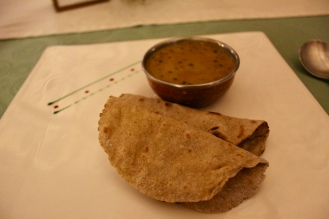 Black Dal with Buck Wheat Flour Roti