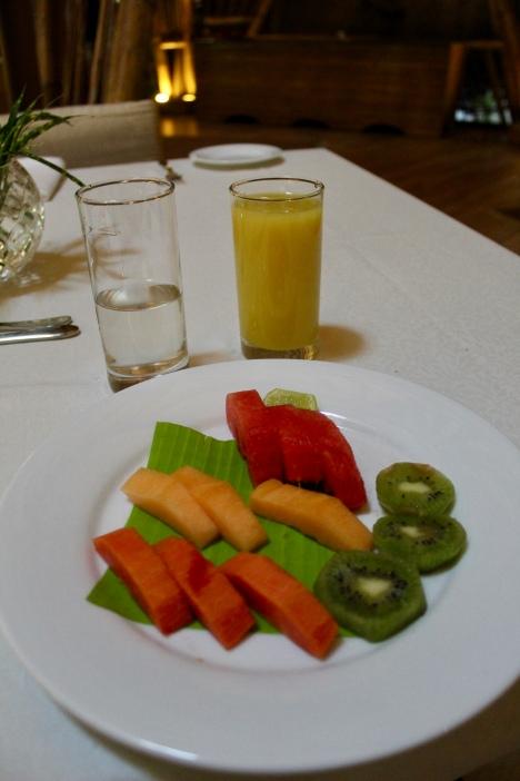 Fresh Cut Fruit Platter with Gooseberry Juice & Wild Tumeric