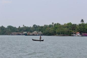 Kerala - Lake - Boater