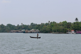 Kerala - Lake - Boater