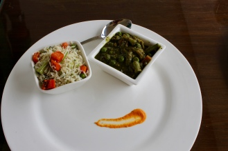 Milan Subzi with Vegetable Pulao