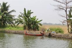 Kerala - Washing then Swimming