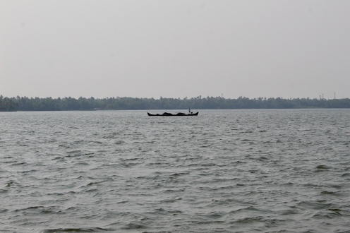 Kerala - Lake - Boater - Transporting Goods
