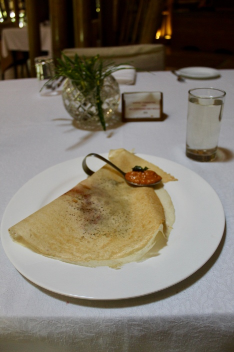 Beetroot Masala Dosa with Chammanthi
