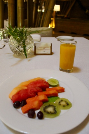 Fresh Cut Fruit Platter & Minted Mango Juice