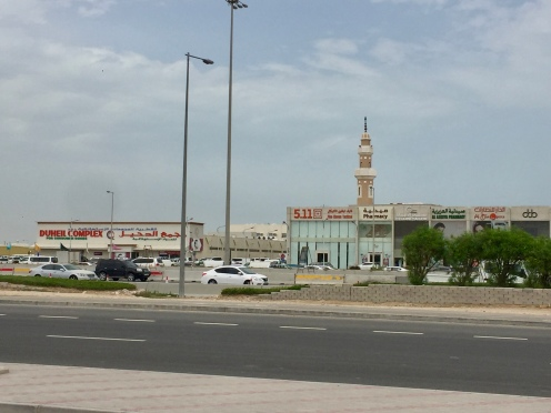 Mosque at shopping strip..