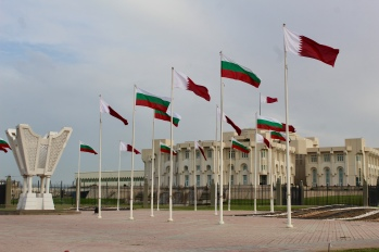 We were not sure why Bulgaria's flag was flying with Qatar's?