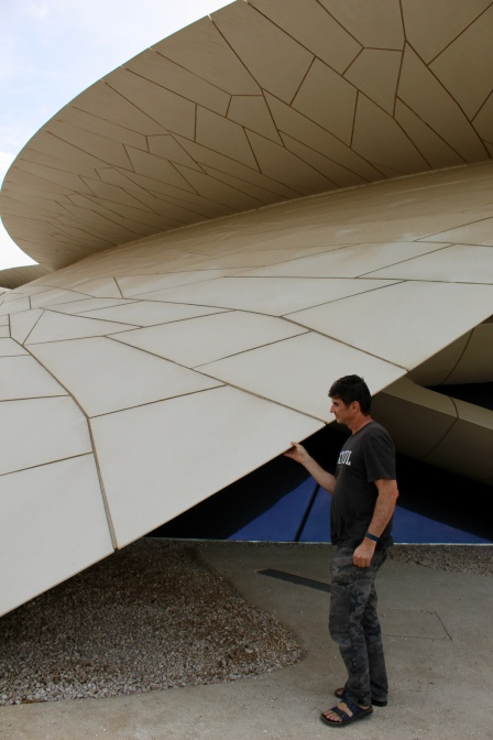 National Museum - made of concrete in the shape of a desert rose crystal
