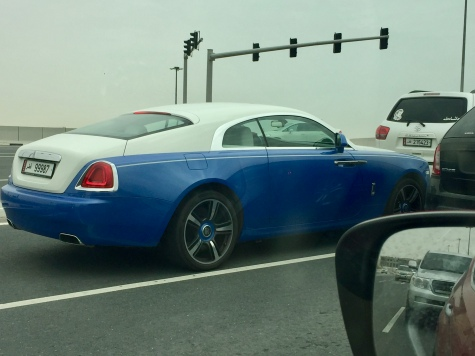 Another Rolls Royce at the same stop light!