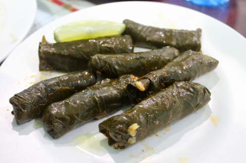 Michael's grape leaves!