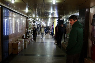 Baku - Underground walkways lined with shops.