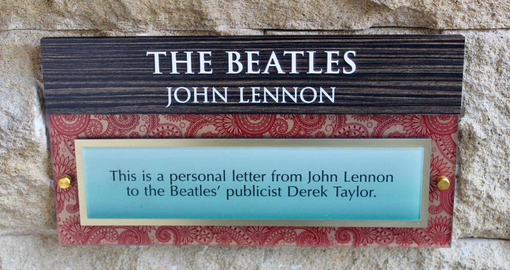 John Lennon Letter