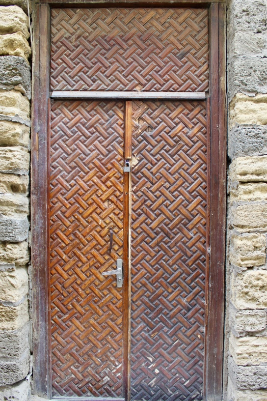 Beautiful, locked door