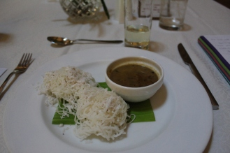 String Hoppers with Kadala Curry