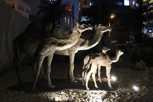 Camel statues..
