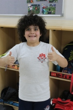 Karem....yes - this is him and his hair is always like that!